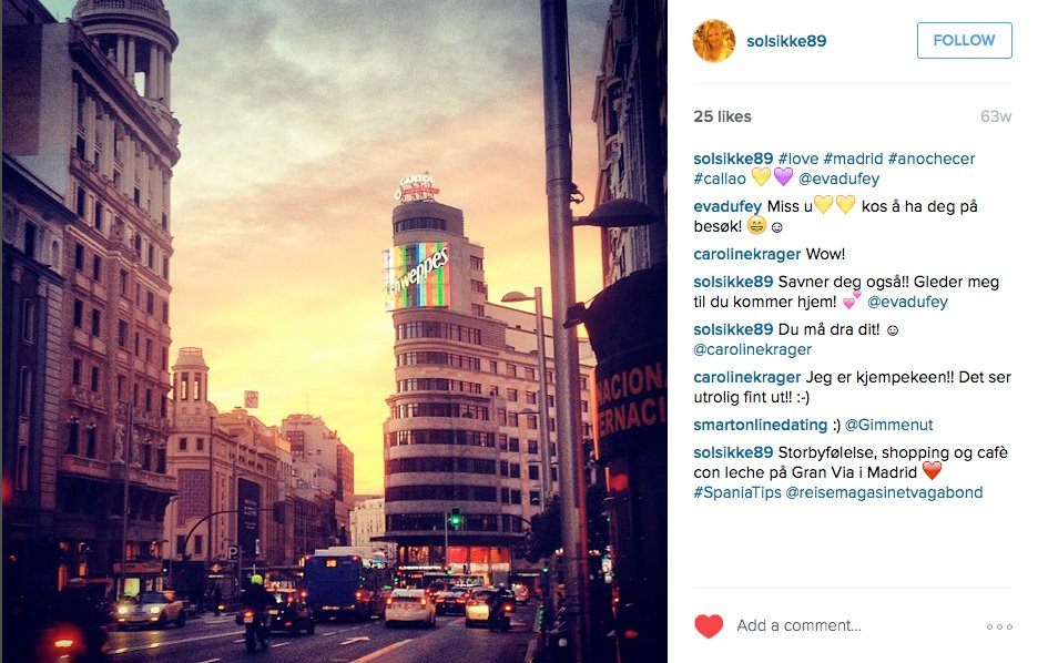 MADRID solsikke89 #love #madrid #anochecer #callao @evadufey