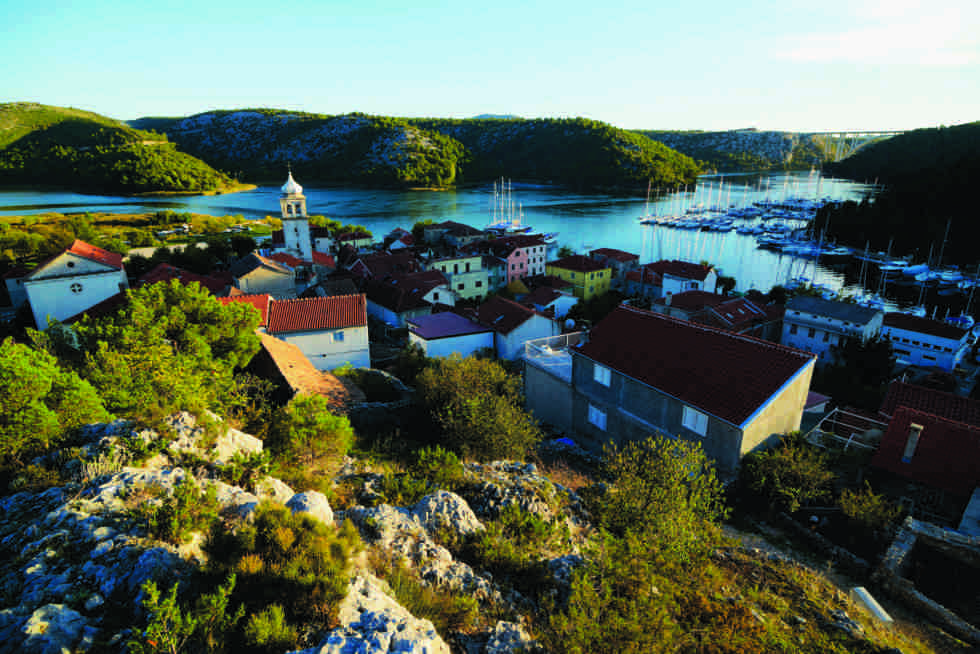 "Hyggelige Skradin, ""where the river kisses the sea"" ..."